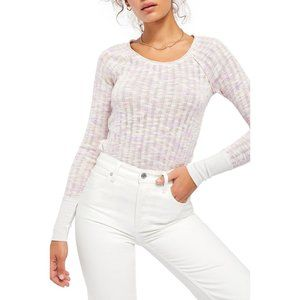 Free People Spaced out long sleeve knit top